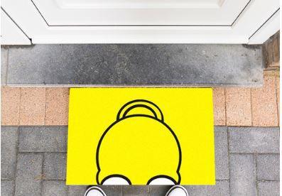 Tapete Capacho Homer Simpson 60x40 cm  - Zap Tapetes e Capachos Personalizados