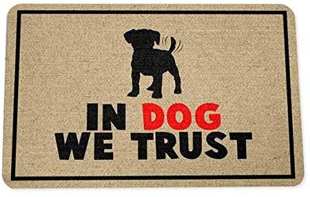 Tapete Capacho In Dog We Trust 40x60 cm  - Zap Tapetes e Capachos Personalizados