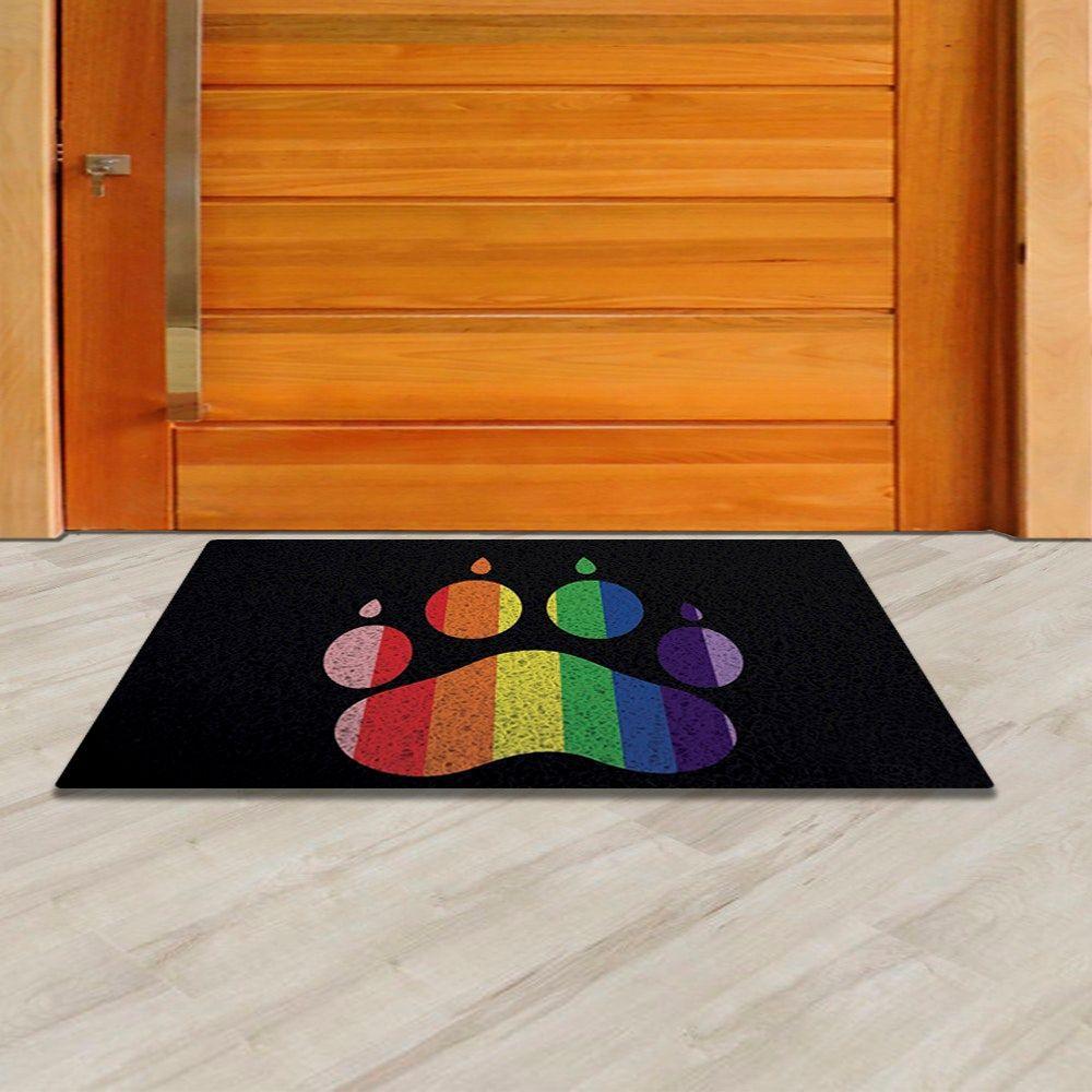 Tapete capacho pata LGBT 60x40cm  - Zap Tapetes e Capachos Personalizados