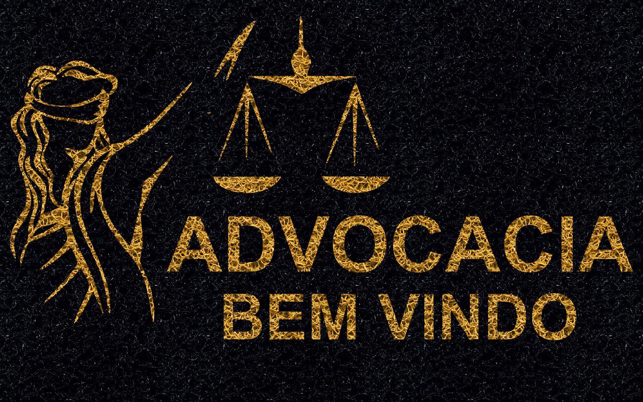 Capacho Personalizado Advocacia (T) | Preto  - Zap Tapetes e Capachos Personalizados