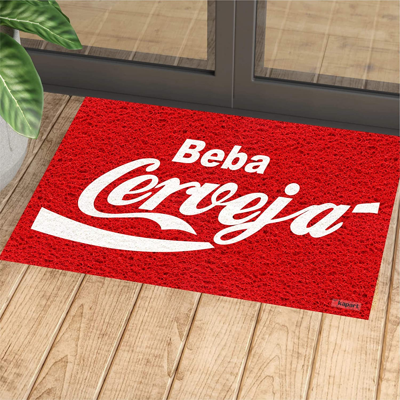 Tapete Capacho Personalizado Beba cerveja 60x40cm  - Zap Tapetes e Capachos Personalizados