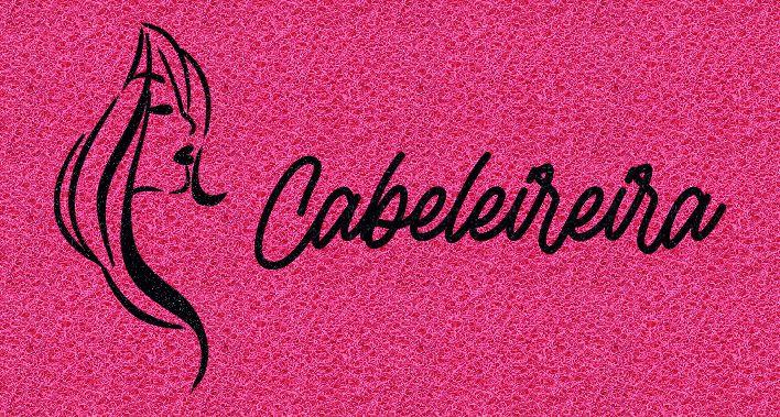 Capacho Personalizado Cabeleireira | Pink  - Zap Tapetes e Capachos Personalizados