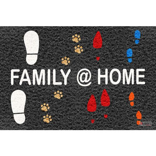 Tapete Capacho Personalizado - Family Home 60x40 cm  - Zap Tapetes e Capachos Personalizados