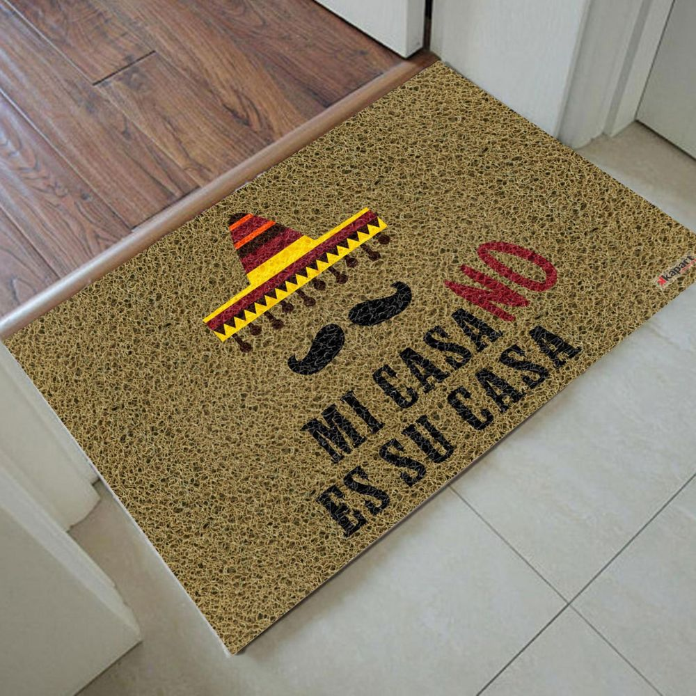 Tapete Capacho Personalizado - Mi casa no es su casa 60x40 cm  - Zap Tapetes e Capachos Personalizados
