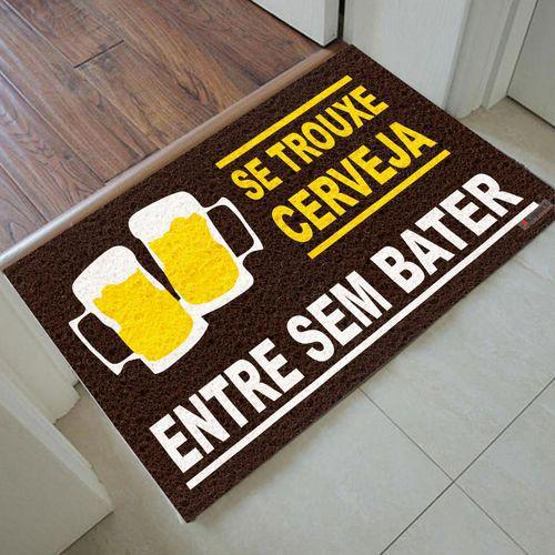 Tapete Capacho Personalizado - Se trouxe cerveja 60x40cm  - Zap Tapetes e Capachos Personalizados