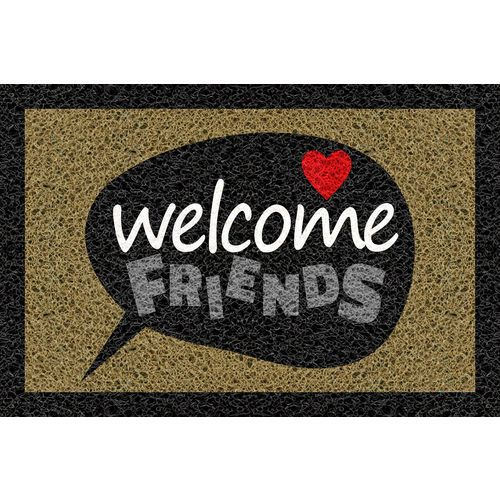 Tapete Capacho Personalizado - Welcome friends 60x40  - Zap Tapetes e Capachos Personalizados