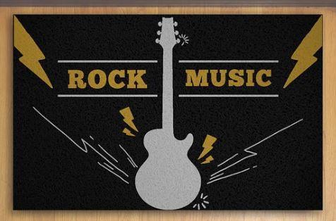 Tapete Capacho Rock Music 60x40 cm  - Zap Tapetes e Capachos Personalizados