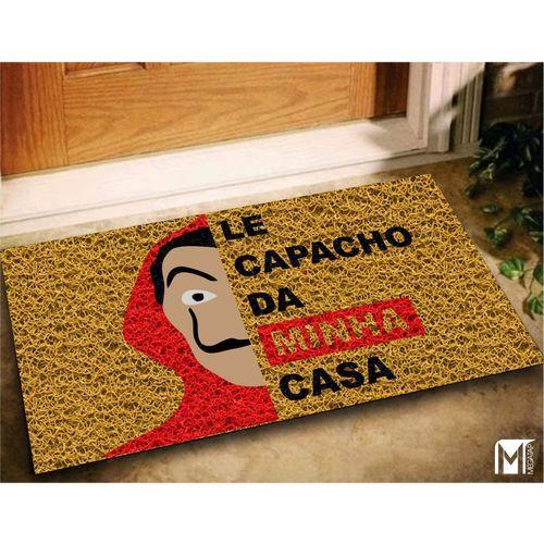 Tapete Capacho Vinil LE CAPACHO DA MINHA CASA 60x40 (La Casa De Papel )  - Zap Tapetes e Capachos Personalizados