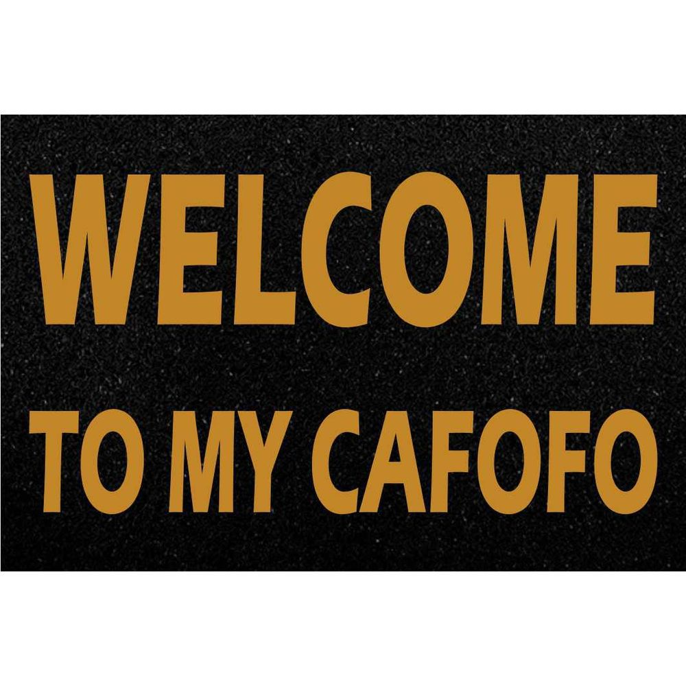 Tapete Capacho Welcome My Cafofo 60x40cm  - Zap Tapetes e Capachos Personalizados
