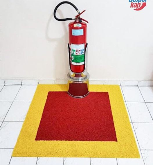 Tapete Marcação Extintor  (BOMBEIRO)  - Zap Tapetes e Capachos Personalizados