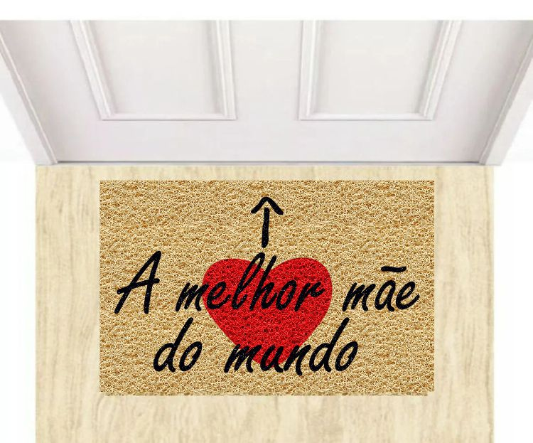Tapete para Apartamento, Dia das Mães,Melhor Mãe do Mundo 40x60 cm  - Zap Tapetes e Capachos Personalizados