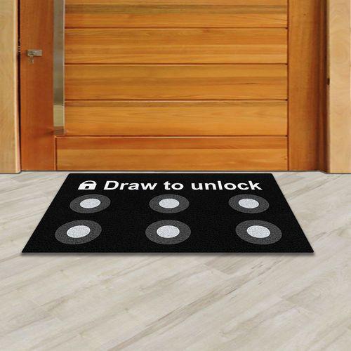 Tapete para apartamento,  Draw To Unlock 40x60 cm  - Zap Tapetes e Capachos Personalizados