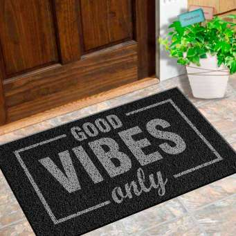 Tapete para Apartamento Good Vibes - 60x40 cm  - Zap Tapetes e Capachos Personalizados