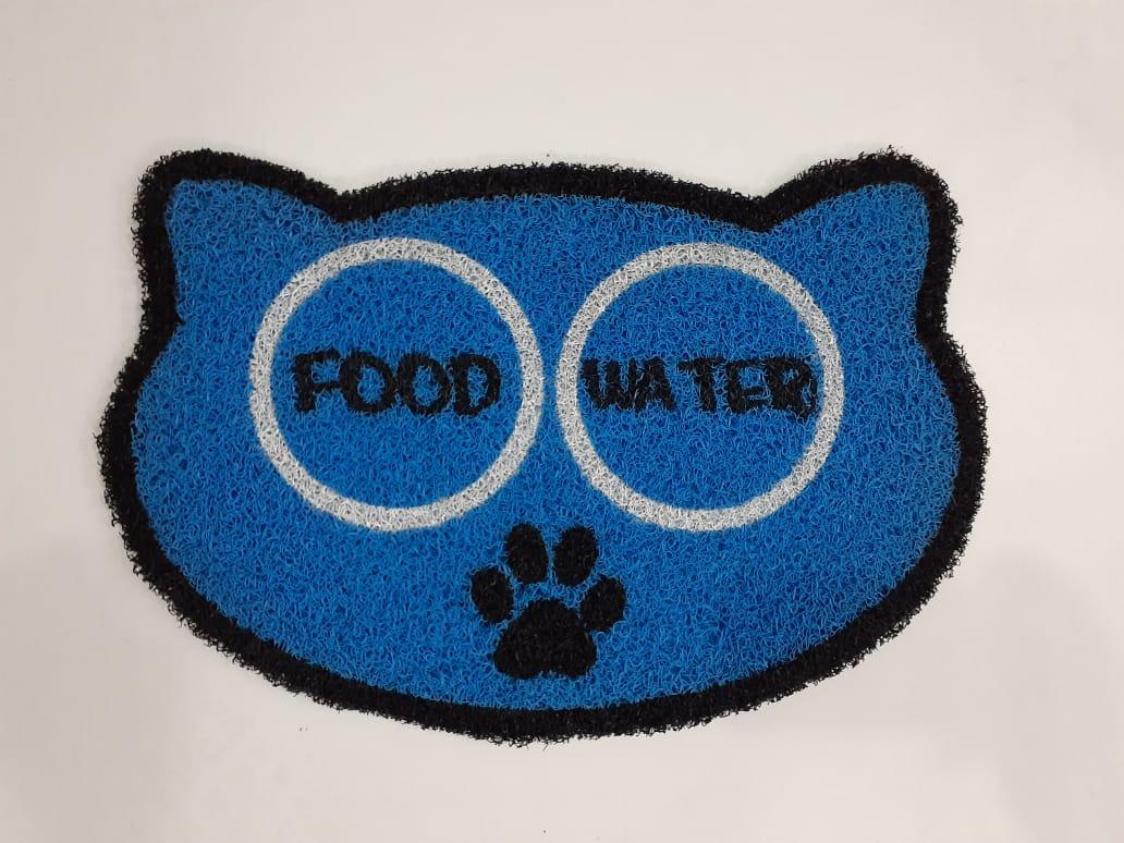 Tapete para Apartamento Pet,  Food e Water 60x40 cm  - Zap Tapetes e Capachos Personalizados
