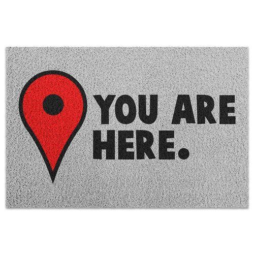 Tapete para apartamento You Are Here - 60 X 40 cm  - Zap Tapetes e Capachos Personalizados
