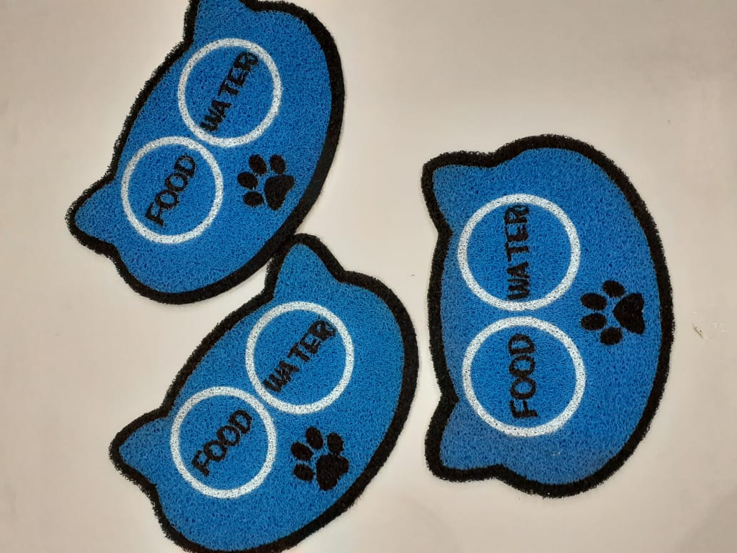 Tapete para Pet,  Food e Water 60x40 cm  - Zap Tapetes e Capachos Personalizados
