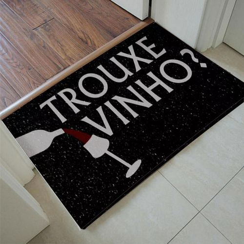 Tapete Para Porta de Apartamento Trouxe Vinho 60x40 cm  - Zap Tapetes e Capachos Personalizados