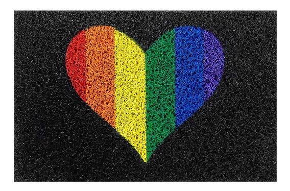 Tapete para Porta , Seja Bem Viados,  LGBT, Coração 60x40cm  - Zap Tapetes e Capachos Personalizados