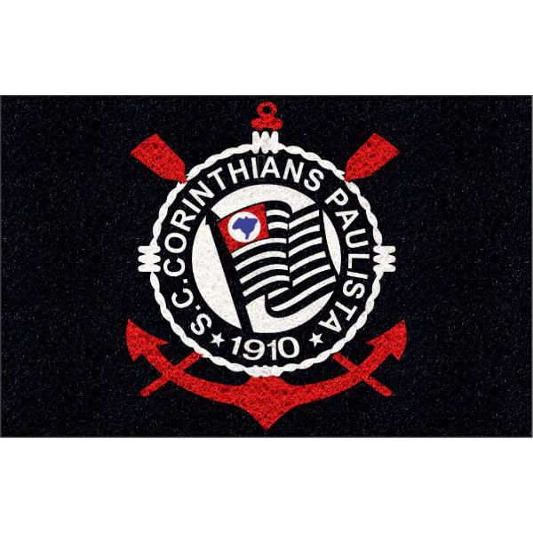 Tapete personalizado do Corinthians! 80x50 cm  - Zap Tapetes e Capachos Personalizados