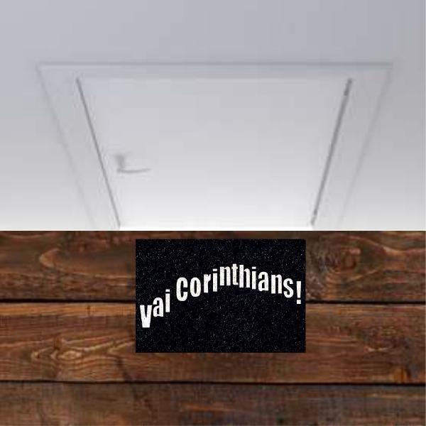 Tapete personalizado do Vai Corinthians!!! 60x40 cm  - Zap Tapetes e Capachos Personalizados