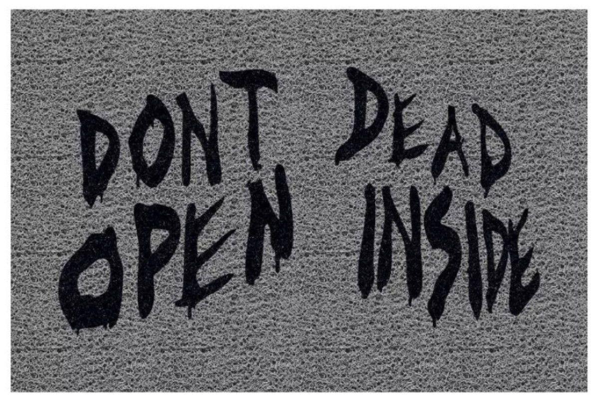 Tapete personalizado Dont Dead Open Side 60x40 cm  - Zap Tapetes e Capachos Personalizados