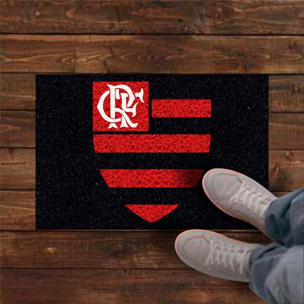 Tapete personalizado Flamengo 60x40 cm  - Zap Tapetes e Capachos Personalizados