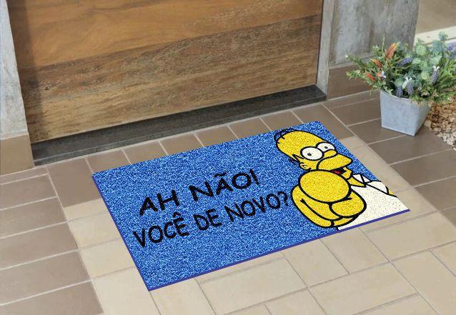 Tapete Personalizado Homer Oh Não Você De Novo 75x40 cm  - Zap Tapetes e Capachos Personalizados