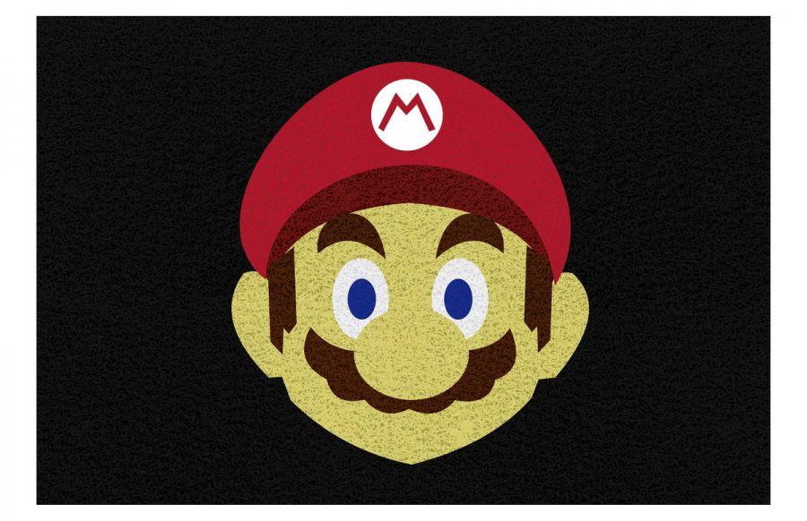 Tapete personalizado Mário Bros 60x40 cm  - Zap Tapetes e Capachos Personalizados