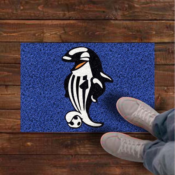 Tapete personalizado mascote santos 60x40 cm  - Zap Tapetes e Capachos Personalizados