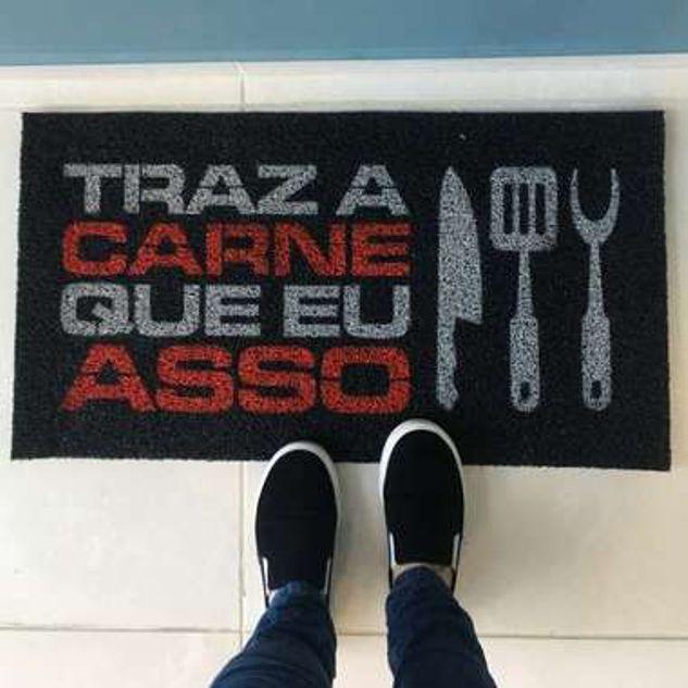 Tapete personalizado para churrasqueira 75x40 cm  - Zap Tapetes e Capachos Personalizados
