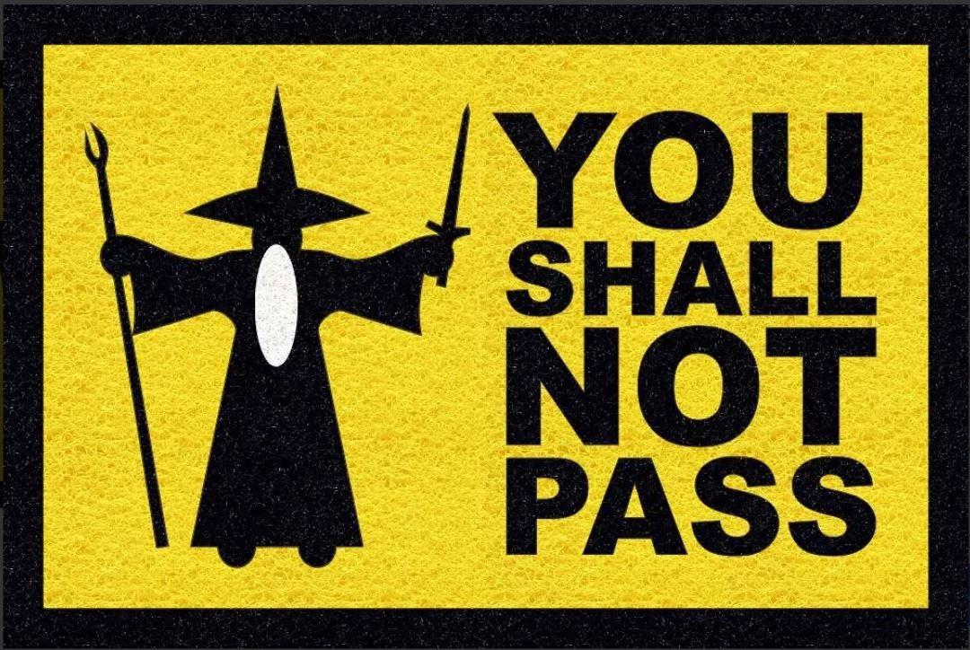 Tapete personalizado you shall not pass senhor das anéis 60x40cm  - Zap Tapetes e Capachos Personalizados