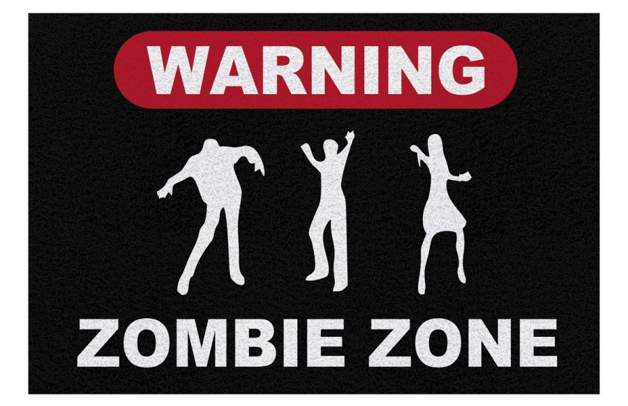 Tapete Personalizado Zumbie Zone The Walking Dead 60x40 Cm  - Zap Tapetes e Capachos Personalizados