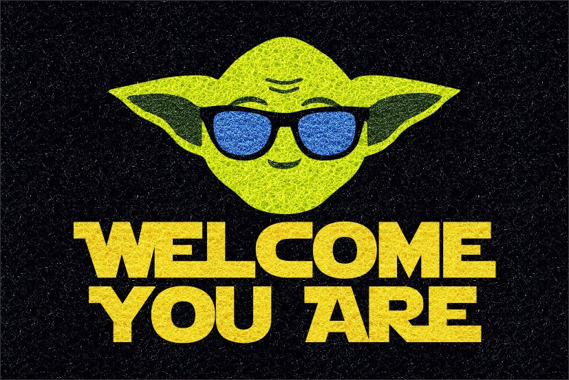 Tapete Star Wars Welcome You Are 60x40cm  - Zap Tapetes e Capachos Personalizados