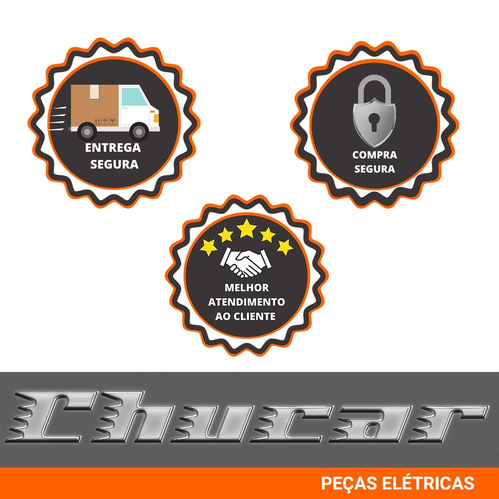 ALTERNADOR FUSCA / BRASILIA / KOMBI 12V 75A CROMADO