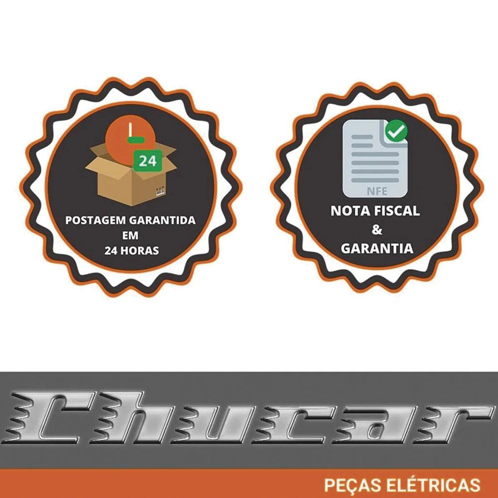 ALTERNADOR FUSCA BRASILIA KOMBI 12V 75A CROMADO 70003C