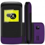 Celular Flip DL Yc230 2 Chips Câmera Bateria Longa Duração