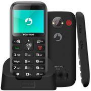 Celular P/ Idosos Positivo P65 Tecla Sos Lanterna Bluetooth