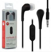 Fone de Ouvido Motorola Earbuds 2 c/ Microfone