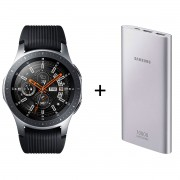 Samsung Galaxy Watch Bt 46mm Prata + Powerbank Samsung Carga Rápida 10.000mah Usb-C
