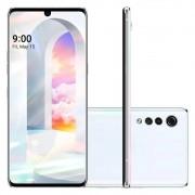 Smartphone LG Velvet Branco 6,8'' 4g Octa Core 128gb 6gb Ram 3 Câmeras