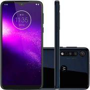 Smartphone Motorola One Macro 4G 64gb 4gb Ram Câmera Tripla Azul