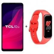Smartphone TCL 10SE Azul Dual Tela 6.52'' 4g 128g + Samsung Galaxy Fit 2 Vermelho