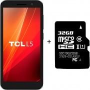 Smartphone TCL L5 Tela 5'' 4G 16GB 1GB Ram Quad-Core 8MP+5MP + Brinde Cartão de Memória 32GB