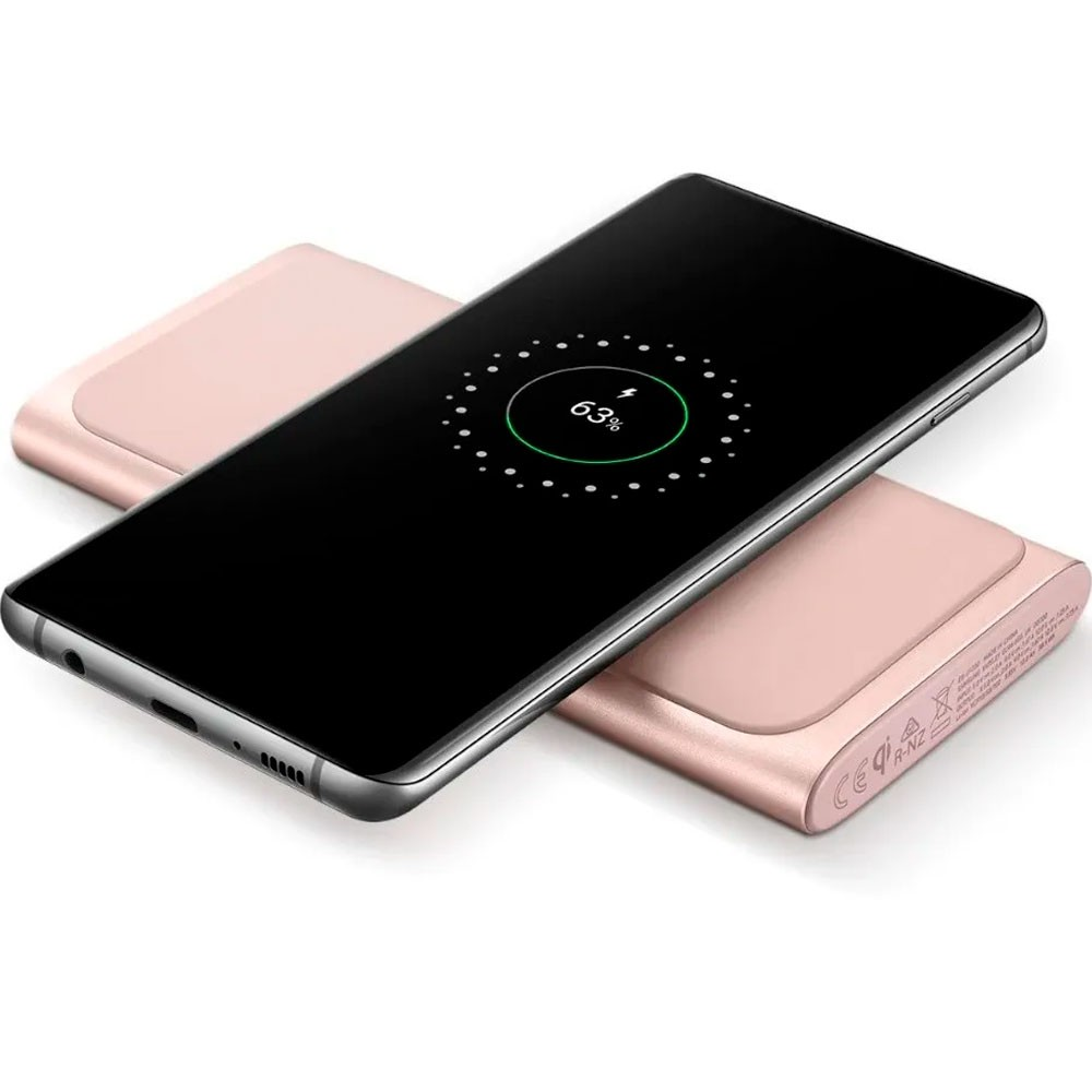 Bateria Externa Powerbank Original Samsung Fast Charge Wireless 10000mah Rose