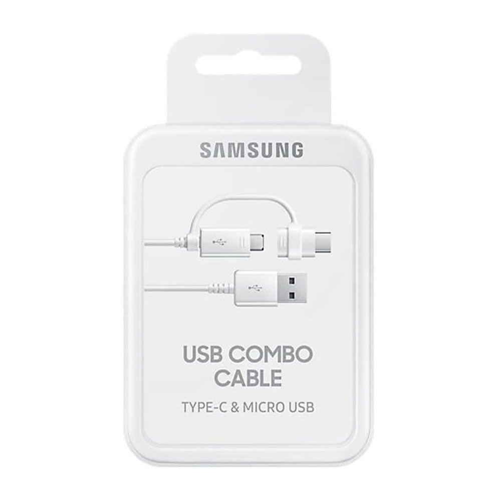 Cabo Samsung 2 em 1 Micro USB, USB C, 1 metro Combo Cable Original