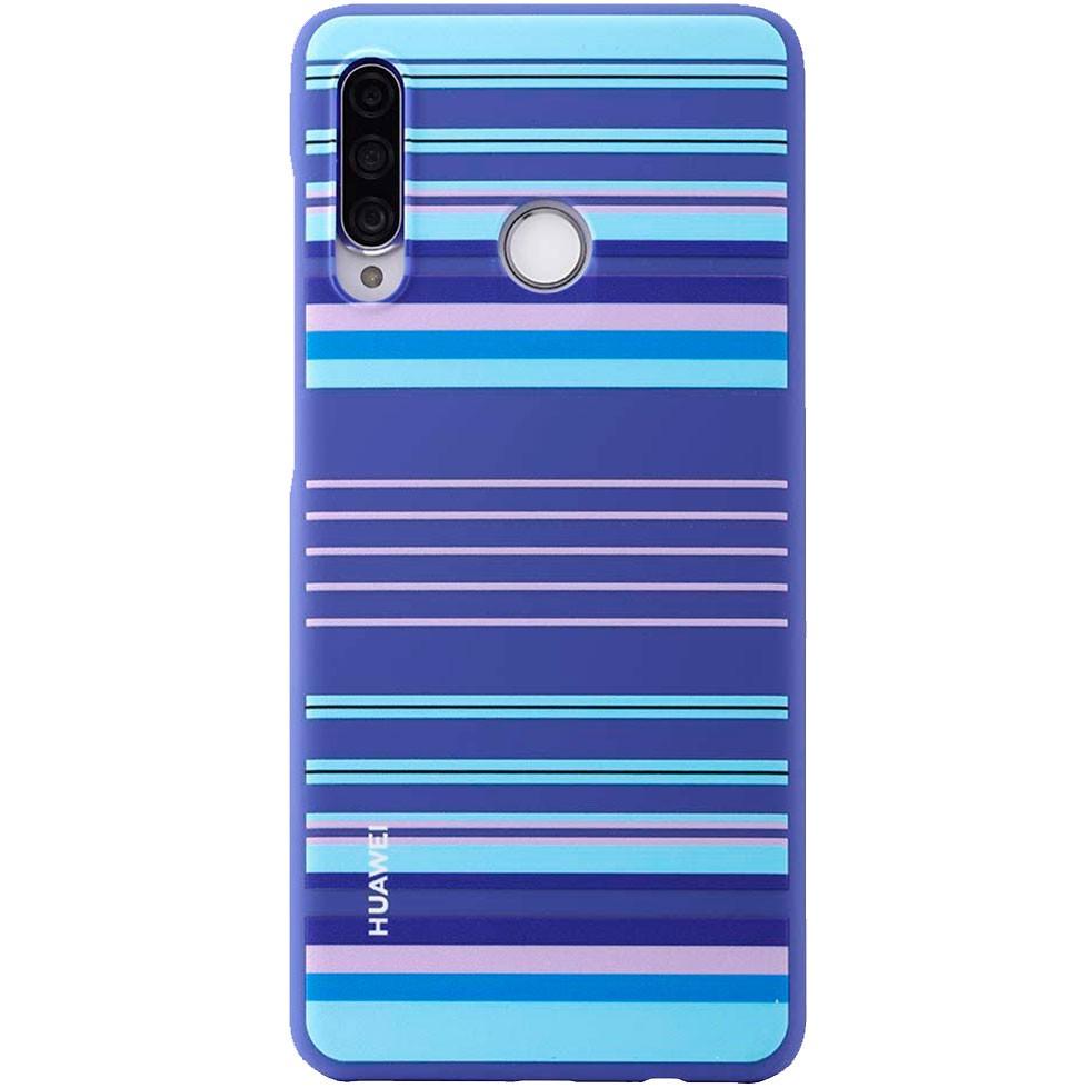 Capa Protetora Huawei P30 Lite Silicone Listrada Azul Original