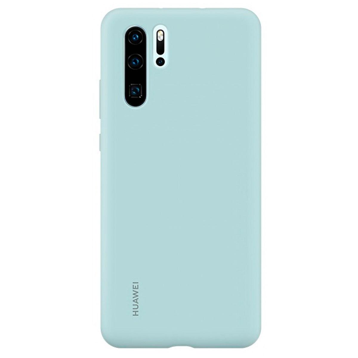 Capa Protetora Silicone Huawei P30 Pro Azul Original