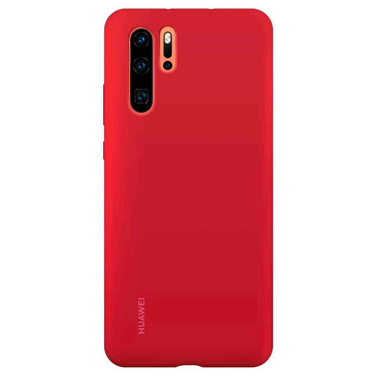 Capa Protetora Silicone Huawei P30 Pro Vermelha Original