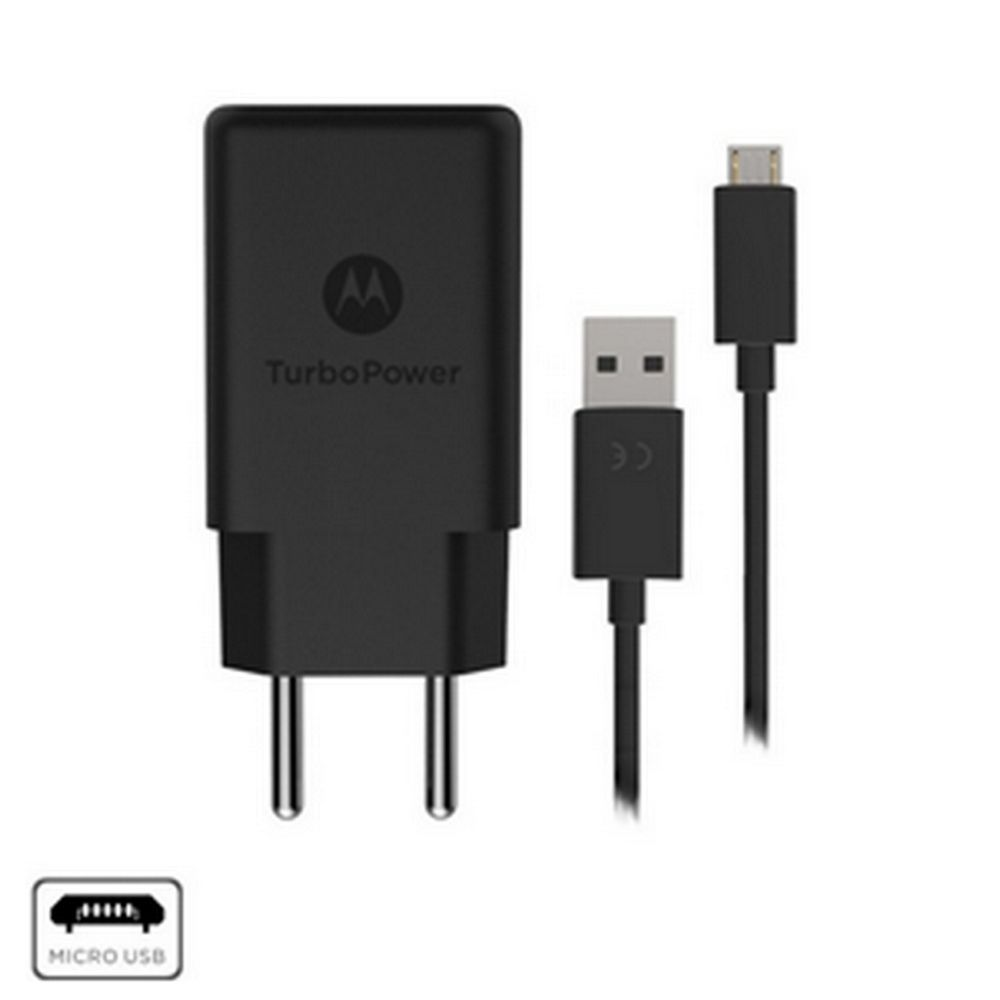 Carregador Parede Motorola Turbo Power 18W Micro USB Preto