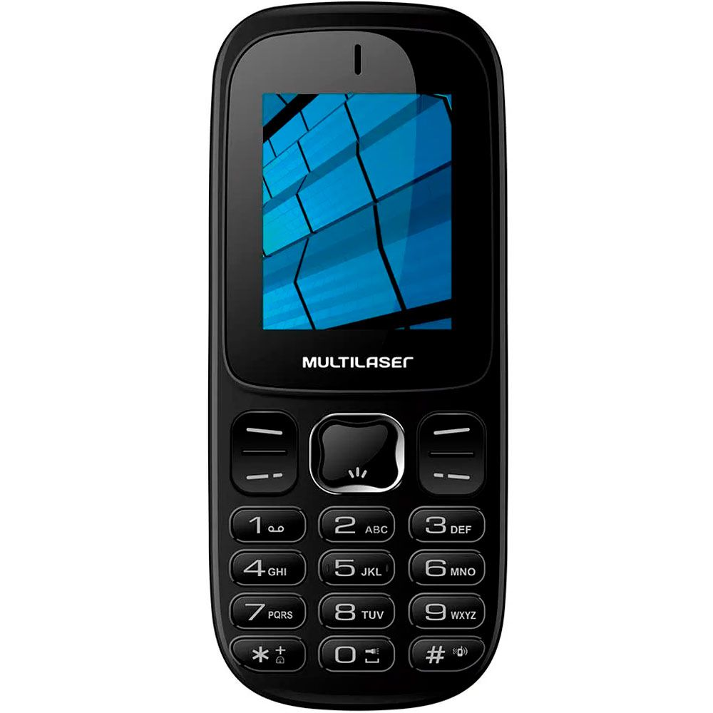 Celular Multilaser Up 3g Câmera Rádio Mp3 Dual Chip Preto